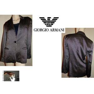 Armani Collezioni  Black Pinstripe  Blazer